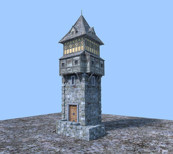 3d Medieval Watch Tower Cgtrader