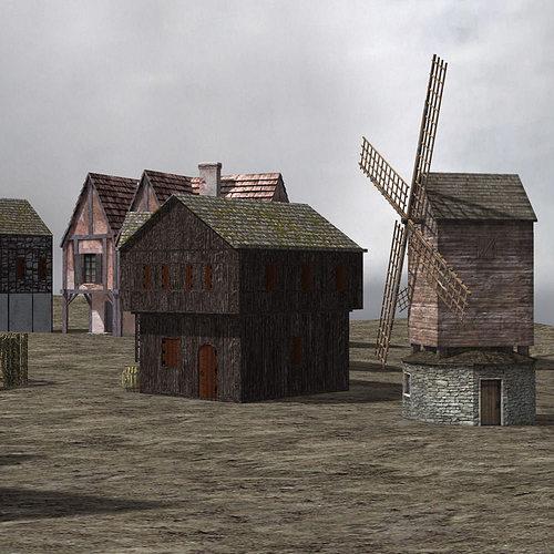 3d Medieval Village Cgtrader