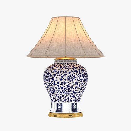 Perfect Ralph Lauren MARLENA LARGE TABLE LAMP IN BLUE AND WHITE 3D Model Home Design Ideas