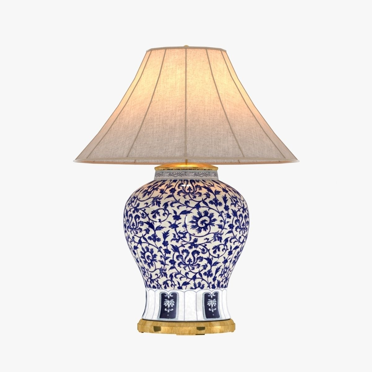 Ralph Lauren Marlena Large Table Lamp In Blue And White 3d Model Max