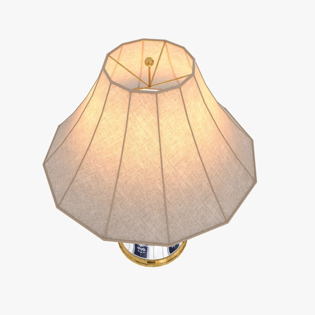 ralph lauren marlena large table lamp in blue and white 3d model max obj 3ds fbx