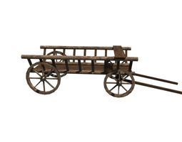 wagon 3d model fbx ma mb