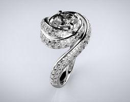 3D printable model Engagement Swirl Ring spiral
