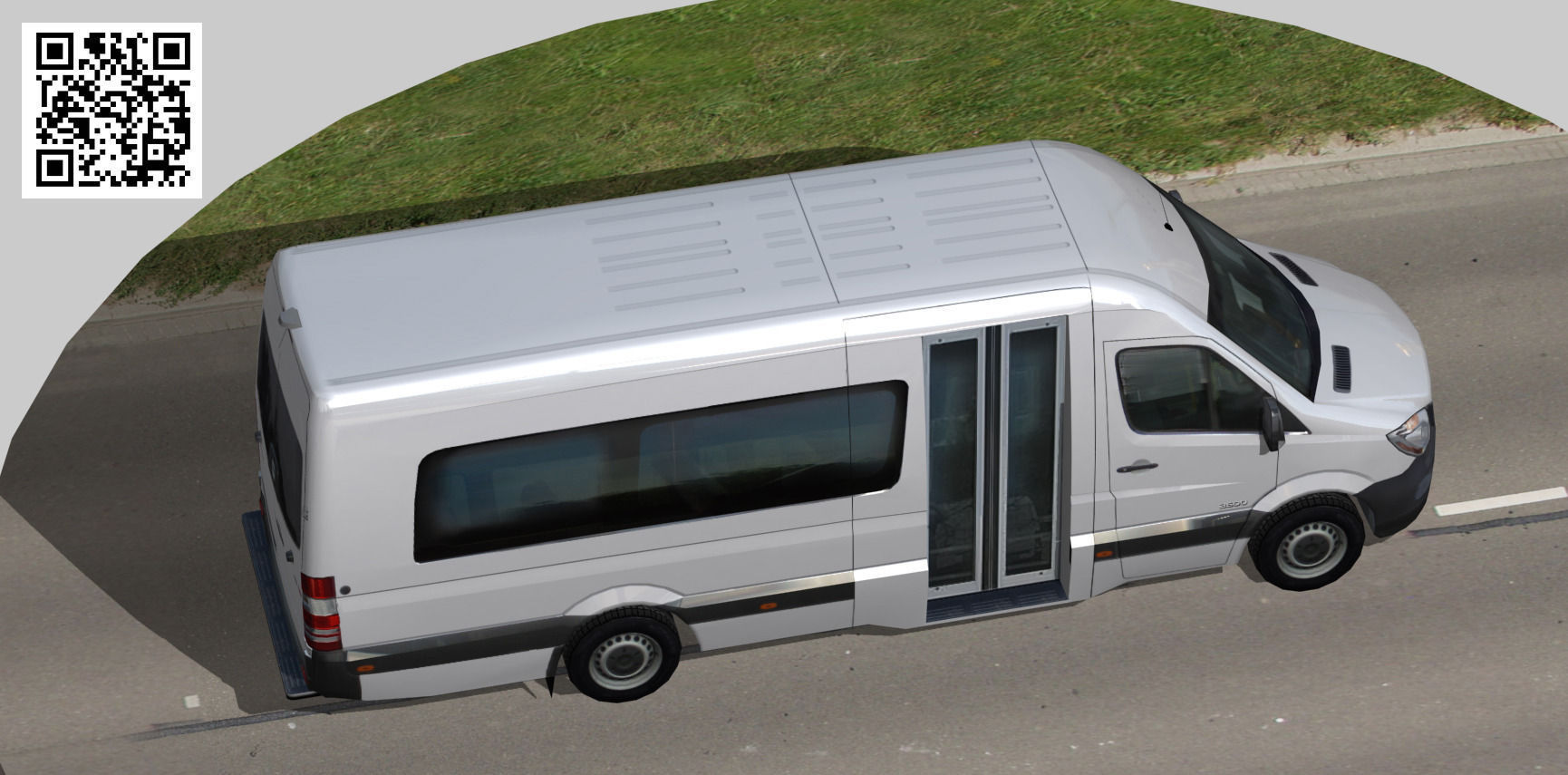 freightliner sprinter minibus 3500 3d model low poly rigged max 4