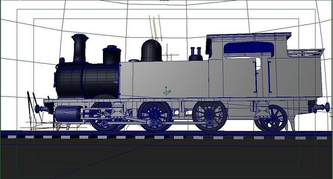 steam locomotive with plug-in sample that was created in mfc vc 3d model obj mtl ma mb 1