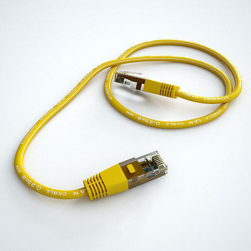 3d ethernet cable cgtrader