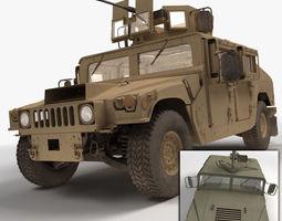 Military Humvee HMMWV 3D Model