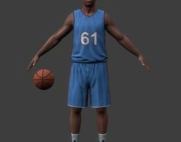 Basketball player v1 3D asset