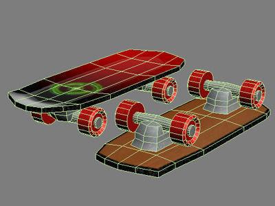 Skateboard 3d model max 3ds - Skateboard mobel ...