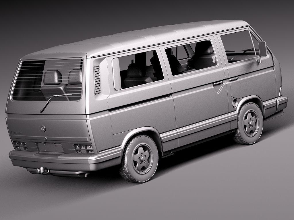 volkswagen t3 limited last edition 2002 3d model max obj. Black Bedroom Furniture Sets. Home Design Ideas