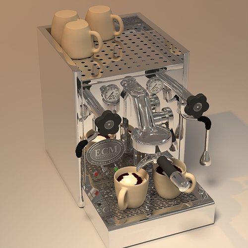 ecm coffeemaker 3d model obj mtl 3ds 3dm dwg 1