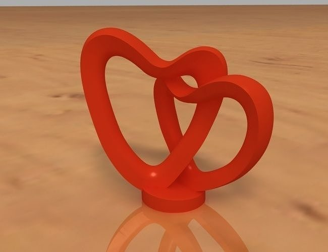 2 Hearts Decoration