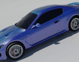 2015 Maserati GranTurismo 3D Model