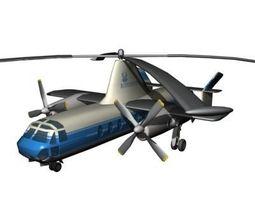 Fairey Rotodyne 3D Model