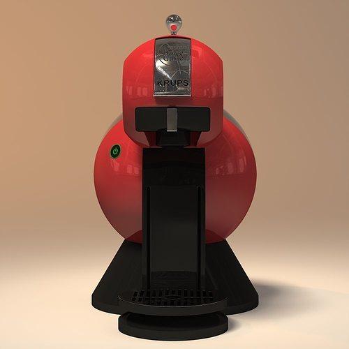 krups nespresso 3d model obj mtl 3ds 3dm dwg 1