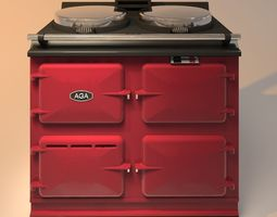 AGA stove red 3D