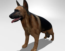 pet 3D German shepherd