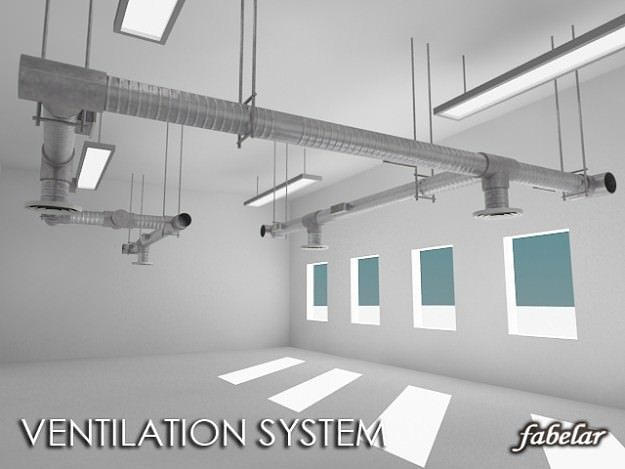 ventilation system 3d model max obj 3ds mtl mat 1