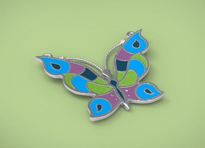pendants butterfly 3d model stl 1