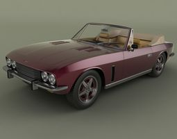 3D Jensen Interceptor Convertible