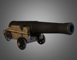 civil war cannon realtime 3d model