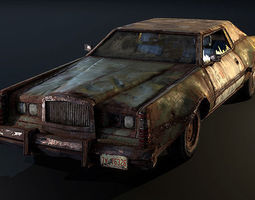 3d model post apocalyptic car