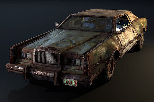 Asset Post Apocalyptic Car Cgtrader