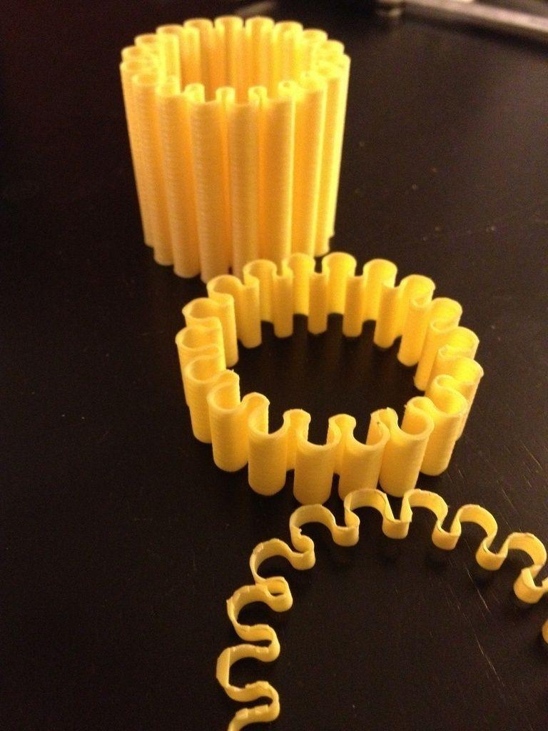 Flexible Bracelet Free 3d Model 3d Printable Stl