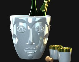 faces- champagne coolers by sieger 3d