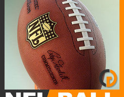 NFL Official 2007 Game Ball 3D Model