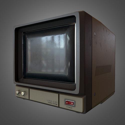 cctv monitor 3d model low-poly obj mtl fbx tga 1