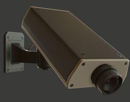 cctv camera 3d model low-poly fbx tga