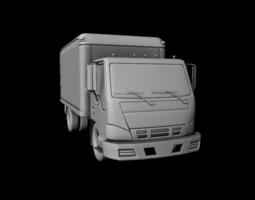 realtime 3d model truck