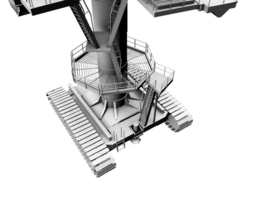 crane 3D model game-ready