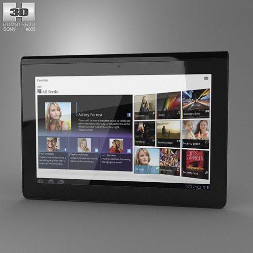 sony tablet s 3d model low-poly max obj 3ds fbx c4d lwo lw lws 1