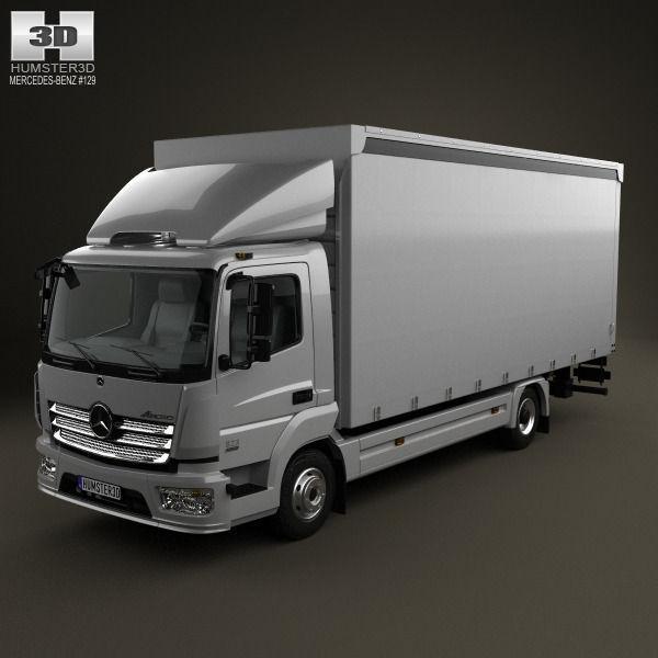 Mercedes benz atego box truck 2013 3d model max obj 3ds for Mercedes benz truck models