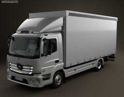 Mercedes-Benz Atego Box Truck 2013 3D Model