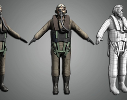 3D model World war Pilot