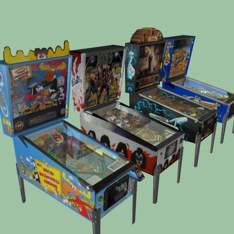 Pinball Machine Collection 3d Model 3d Model Max