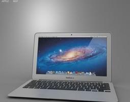 apple macbook air 11 inch 2012 3d model max obj 3ds fbx c4d lwo lw lws