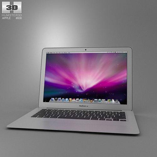 apple macbook air 13 inch 2012 3d model max obj 3ds fbx c4d lwo lw lws 1