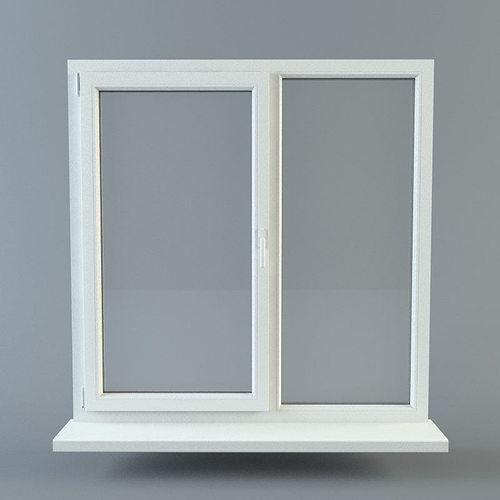 window 3d model obj mtl fbx ma mb 1