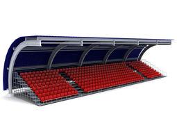 Stadium seating tribune canopy 3 3D stadium