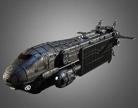 3D asset Sci-Fi Transport Ship