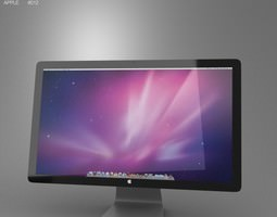 low-poly apple thunderbolt display 27 2012 3d asset