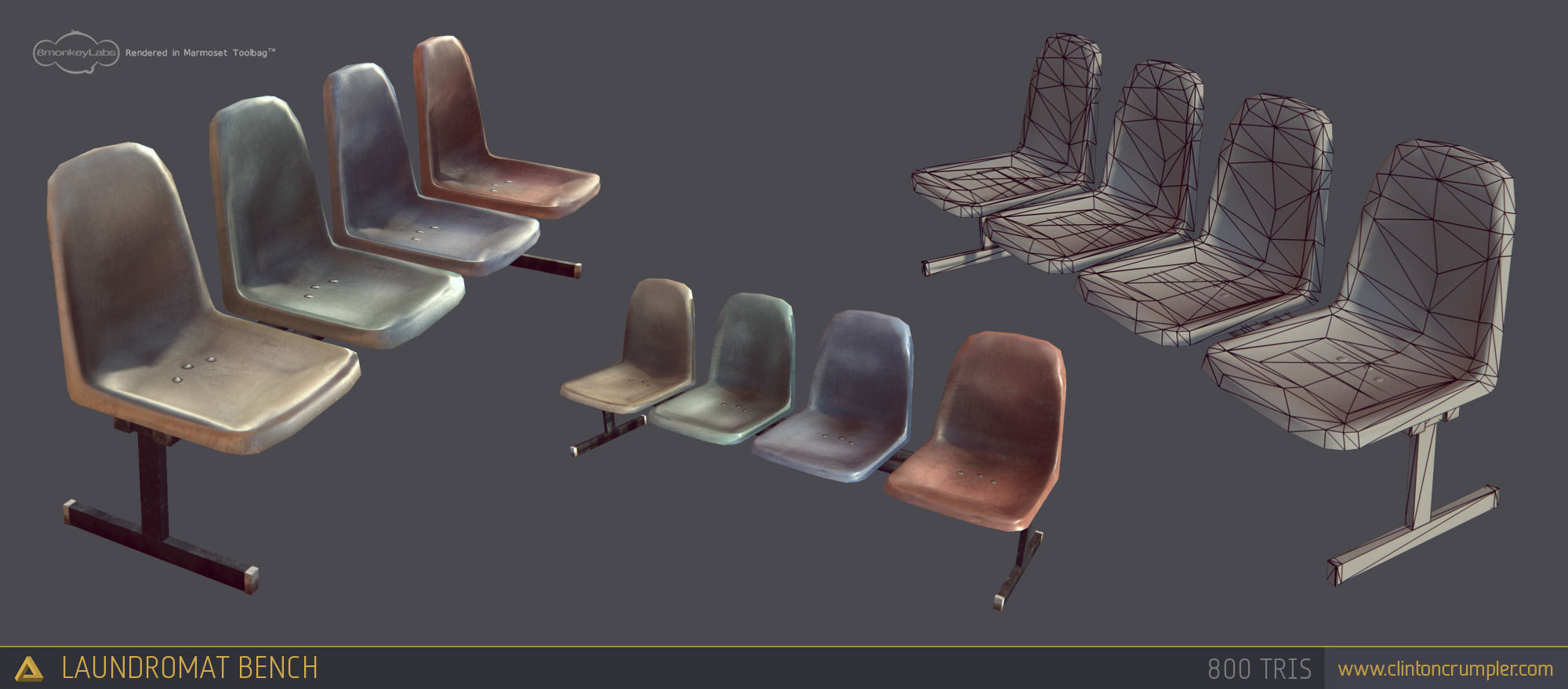 laundromat furniture. laundromat bench chairs 3d model lowpoly obj fbx ma mb tga 18 furniture t