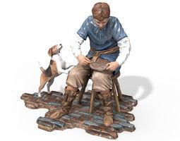 3D model Statuette Craftsmen
