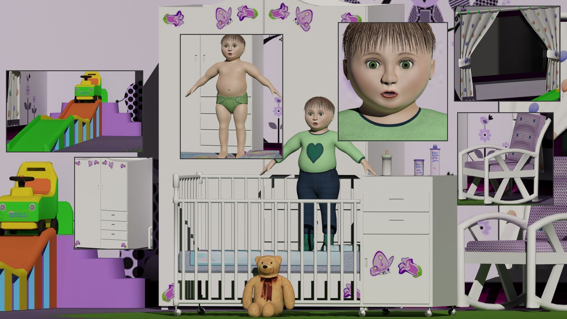 Baby or Toddler With Room Set Unisex