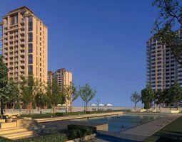 multi residential building 029 3d model