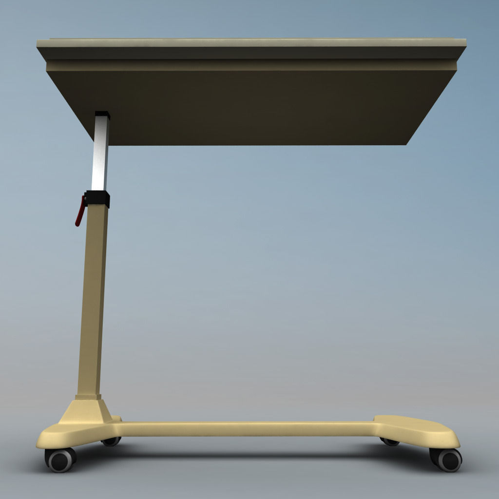 Over Bed Table 3d Model Cgtrader